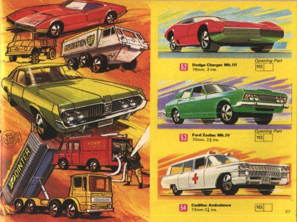 catalogue matchbox 1970 p27 dodge charger ford zodiac