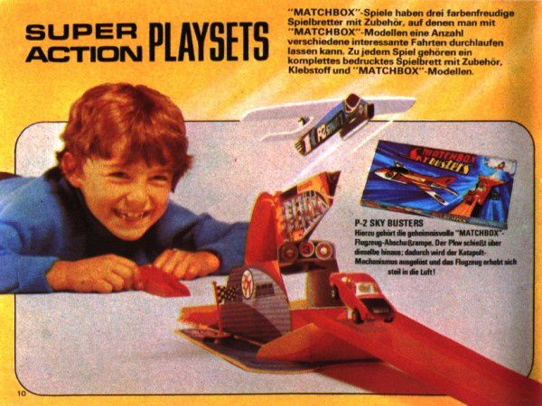 catalogue matchbox 1972-1973 p10 super action playsets