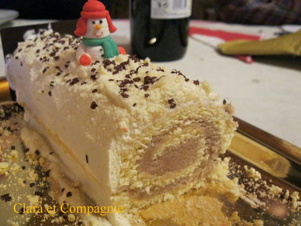 Garniture buche de noel creme de marron