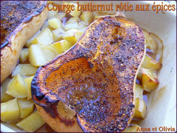 courge butternut rôtie aux épices