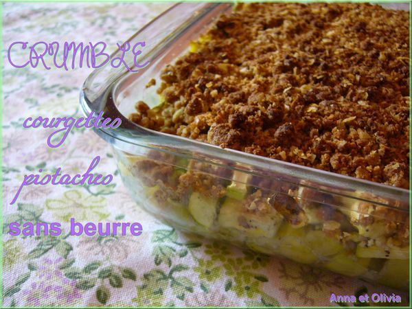 crumble courgettes pistaches