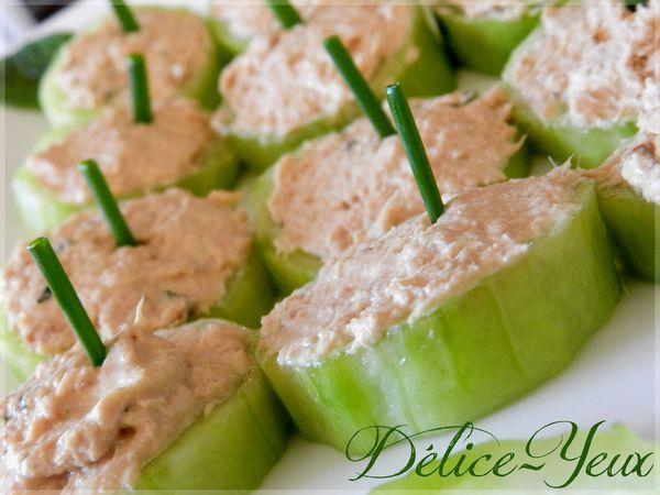 Bouchées thon concombre 1