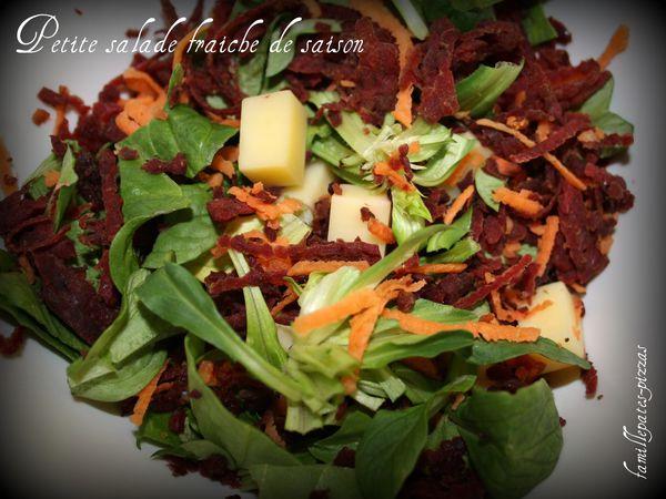 petite salade fraîche de saison