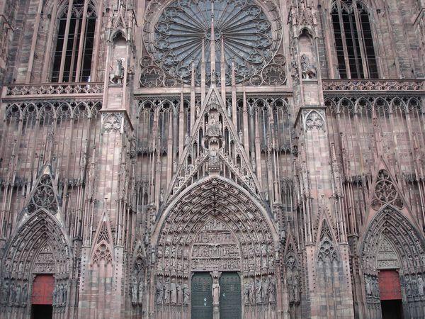 Frontispice cathédrale Strasbourg