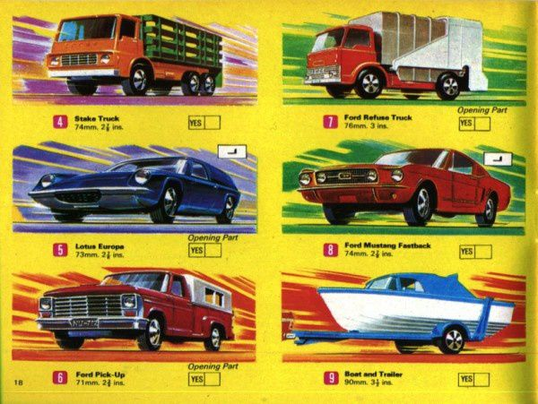catalogue matchbox 1970 p18 ford pickup