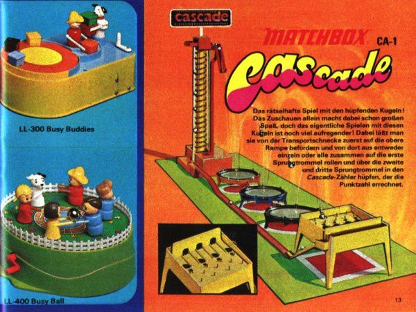 catalogue matchbox 1972-1973 p13 cascade matchbox