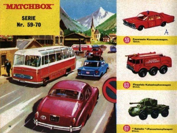 catalogue matchbox 1967 p12