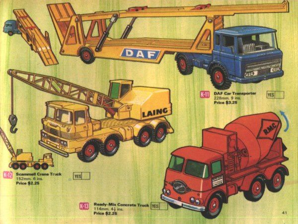 catalogue matchbox 1970 p41 scammell crane truck