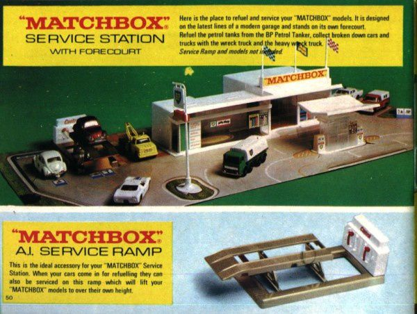 catalogue matchbox 1970 p50 service ramp matchbox
