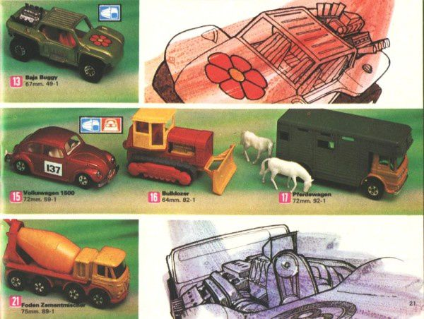catalogue matchbox 1972-1973 p21 baja buggy