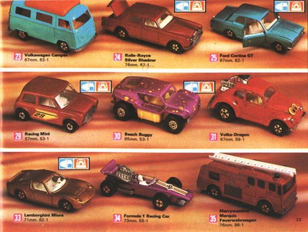 catalogue matchbox 1972-1973 p23 volks dragon beach buggy