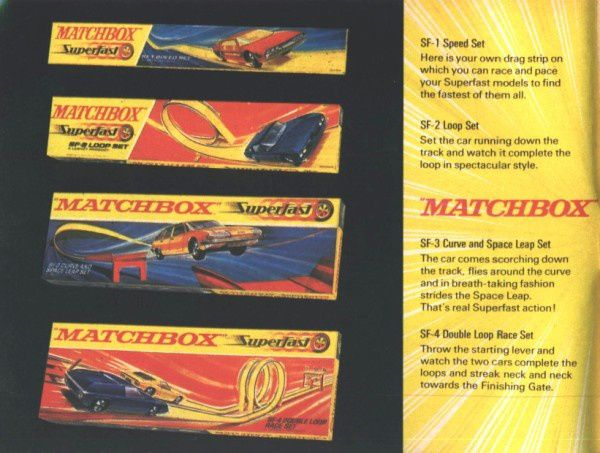 catalogue matchbox 1970 p10 speed set loop set superfast