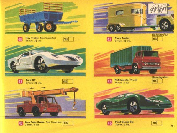 catalogue matchbox 1970 p25 pony trailer refrigerator truck