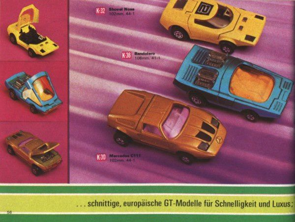 catalogue matchbox 1972-1973 p56 bandolero c111