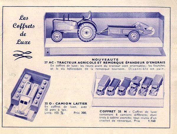 catalogue dinky toys 1950 p2 fabrication meccano
