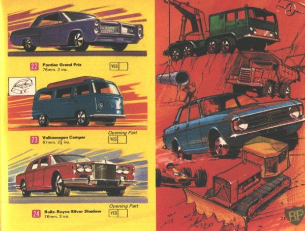 catalogue matchbox 1970 p21 vw camper pontiac gp