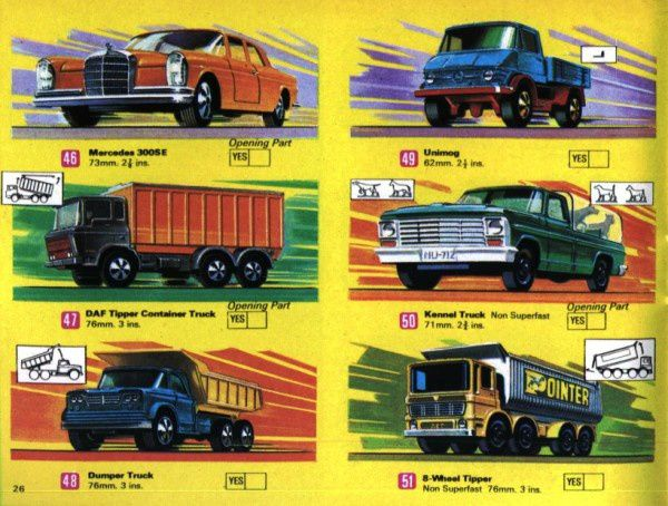 catalogue matchbox 1970 p26 kennel truck