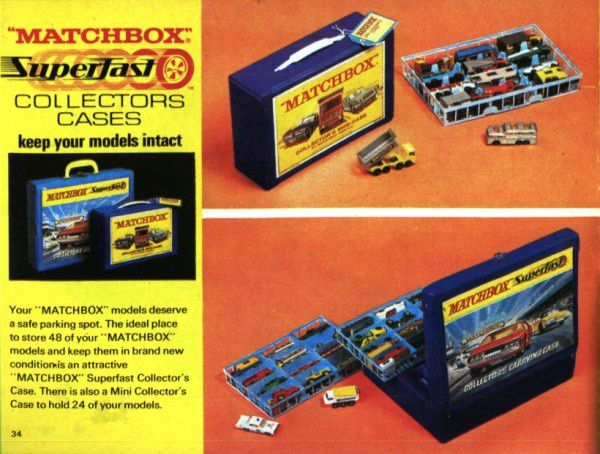 catalogue matchbox 1970 p34 case for 48 matchbox