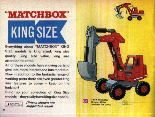 catalogue matchbox 1970 p36 excavator king size