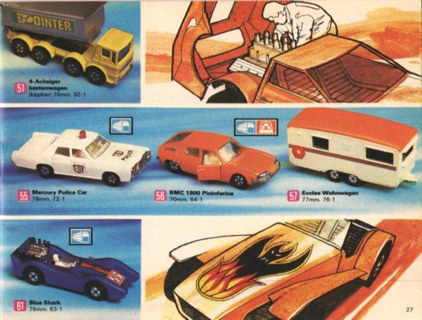 catalogue matchbox 1972-1973 p27 blue shark