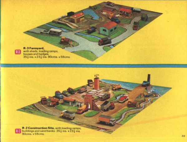 catalogue matchbox 1970 p33 set farm set construction site