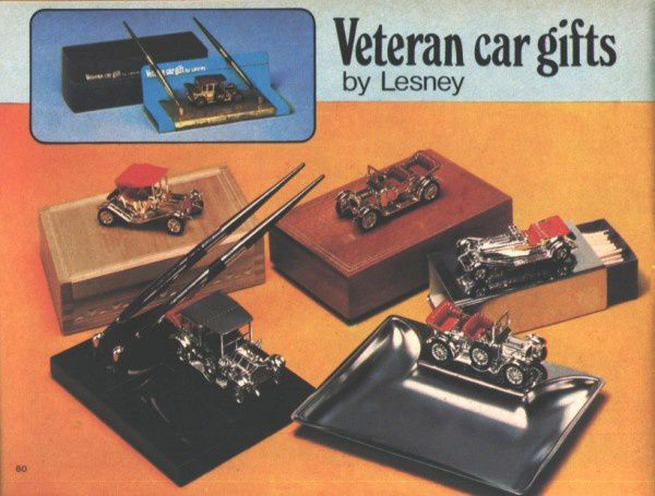 catalogue matchbox 1970 p60 veteran car gifts lesney