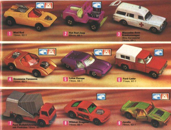 catalogue matchbox 1972-1973 p19 amx javelin gruesome