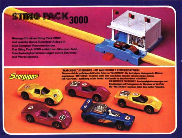 catalogue matchbox 1972-1973 p32 sting pack 3000