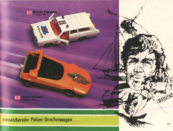 catalogue matchbox 1972-1973 p57 bertone runabout