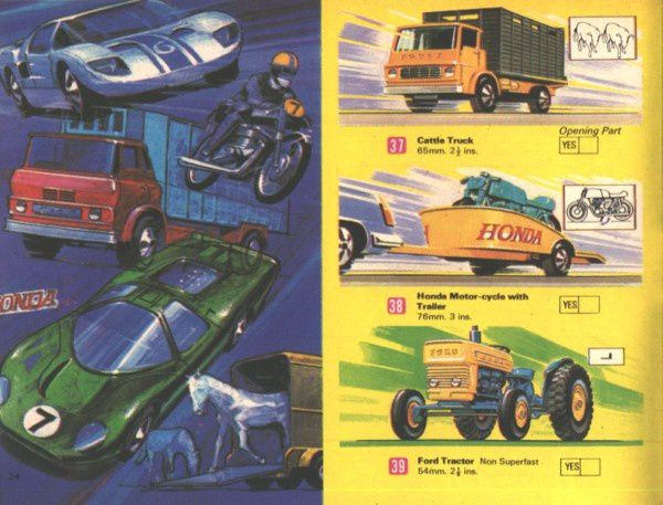 catalogue matchbox 1970 p24 honda motorcycle
