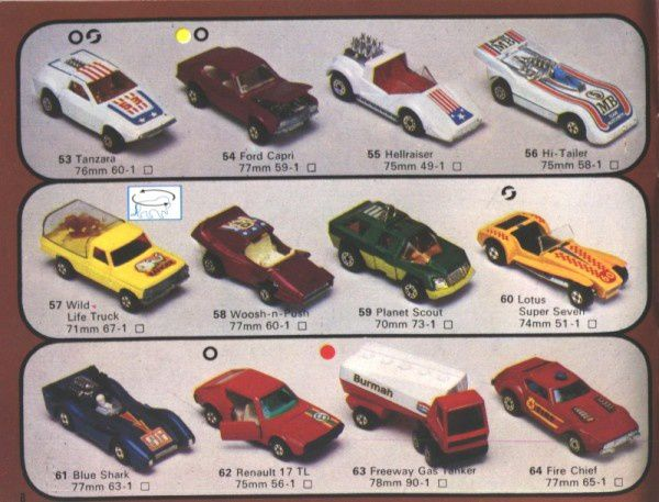 catalogue matchbox 1976 p08 tanzara planet scout