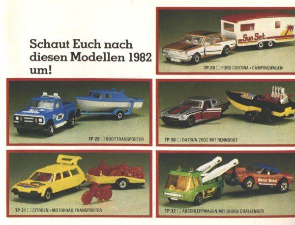 catalogue matchbox 1982-83 p17 cx break avec motos