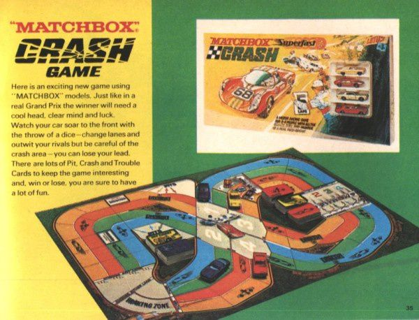 catalogue matchbox 1970 p35 jeu crash game