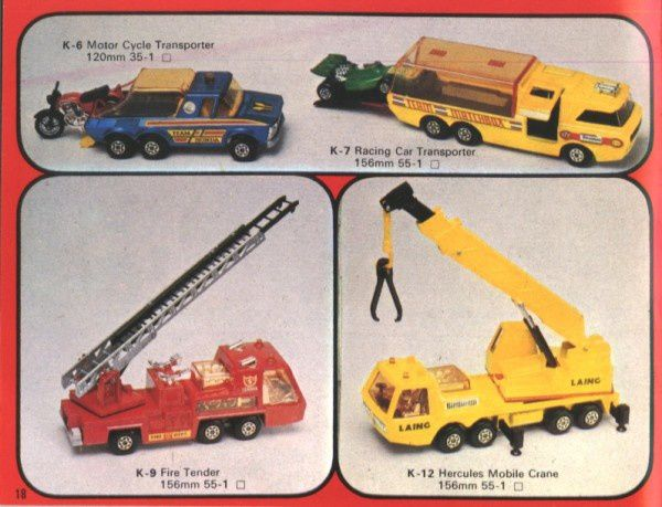 catalogue matchbox 1976 p18 motor cycle transporter