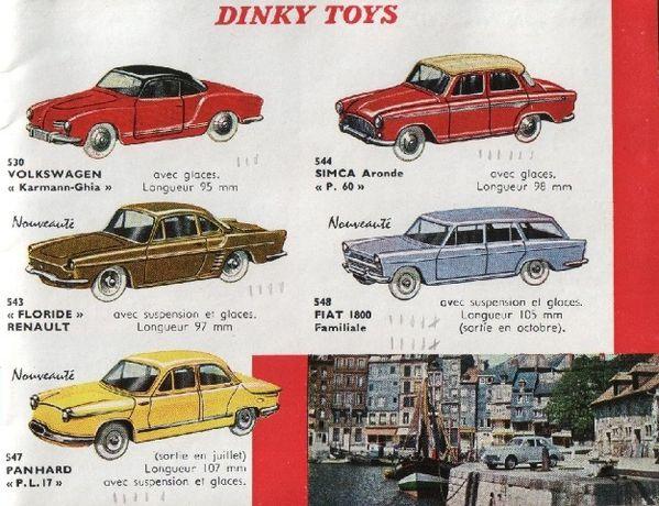 catalogue dinky toys 1960 p03 fiat 1800 panhard pl17 renaul