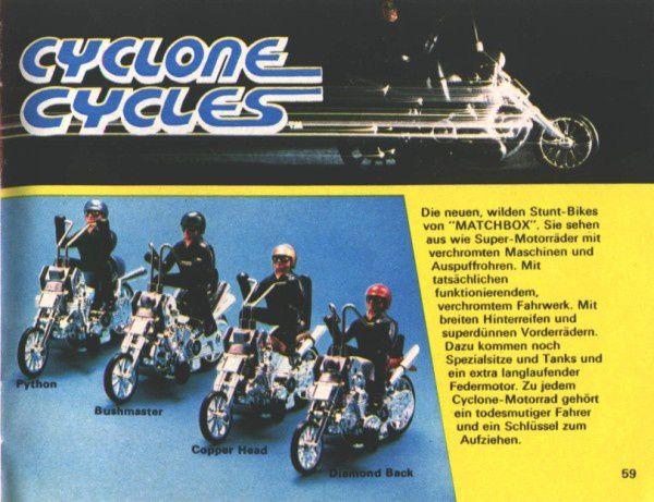 catalogue matchbox 1974-1975 p59 python diamond back cyclon