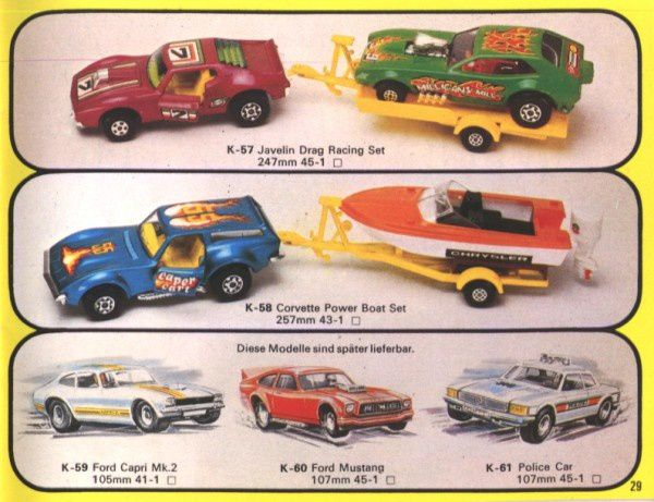 catalogue matchbox 1976 p29 corvette power boat set