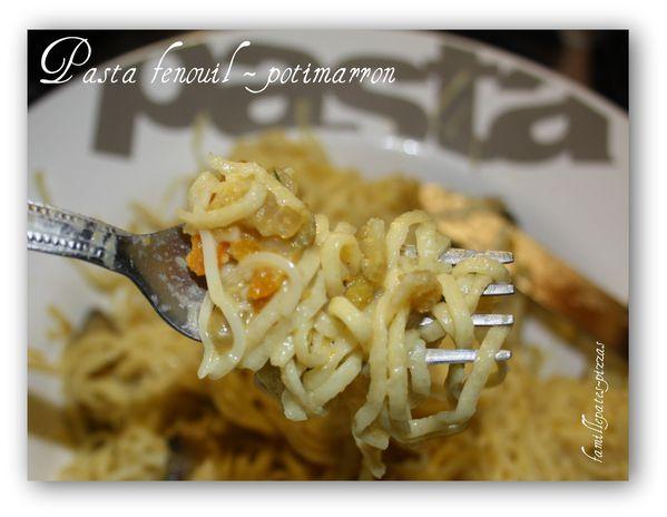 pasta fenouil - potimarron 2