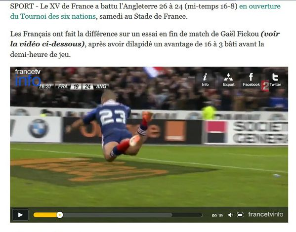 France Angleterre rugby hommes 1