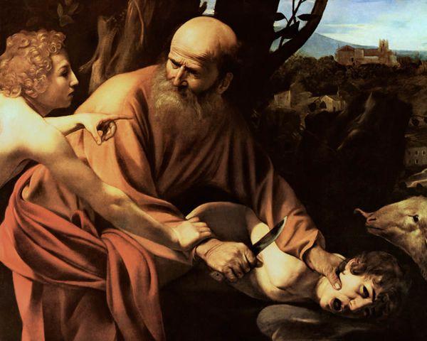 Caravage Sacrifice d'Isaac