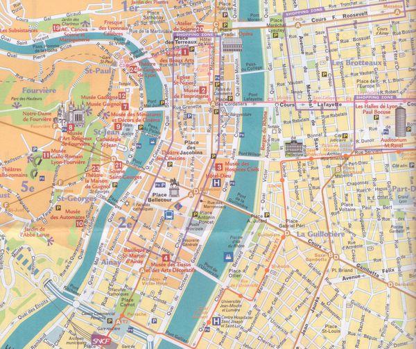 Lyon Plan de ville historique