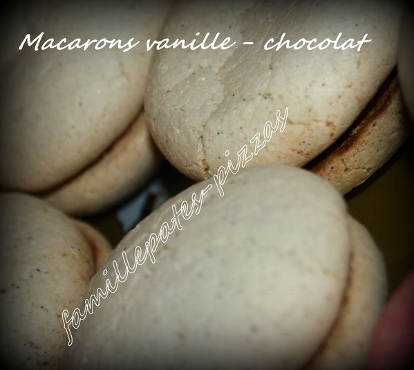 macarons vanille-chocolat