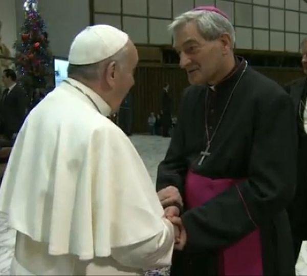 Pape et Mgr Dufour