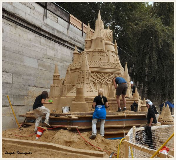 Paris Plages chateau de sable 2
