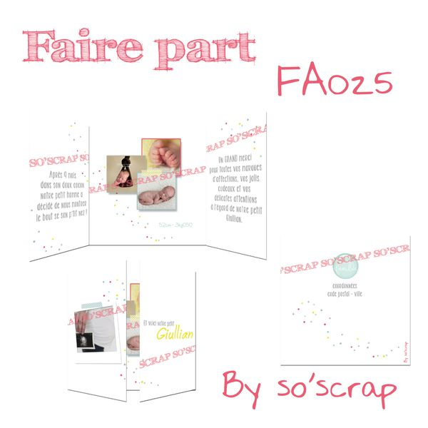 faire-part FA025