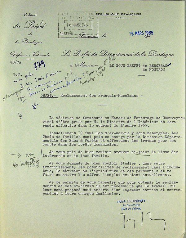 10-Lettre du préfet de la Dordogne ( 15-03-1965 ) 2