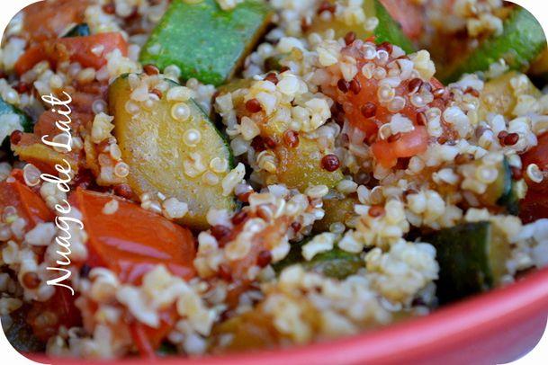 Quinoa gourmand courgettes tomates à l'Indienne