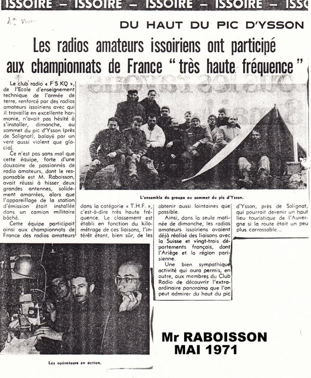 8(3) Radio amateurs en mai 71