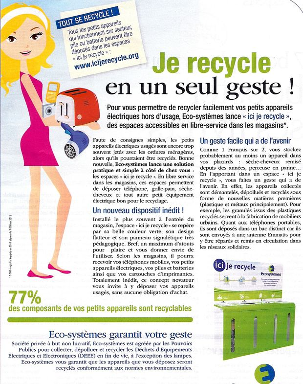 Je recycle !