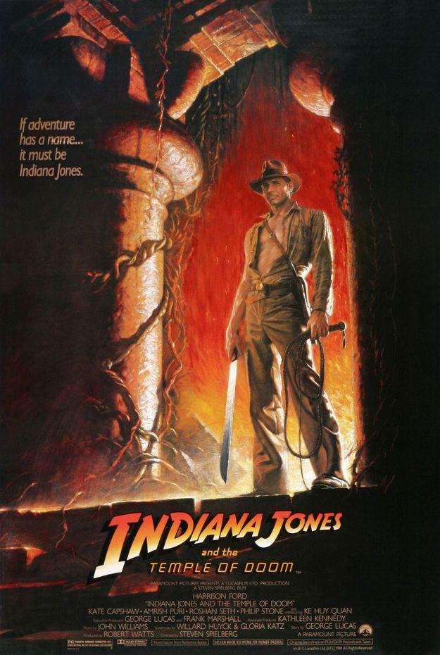 Indiana Jones et le temple maudit - affiche